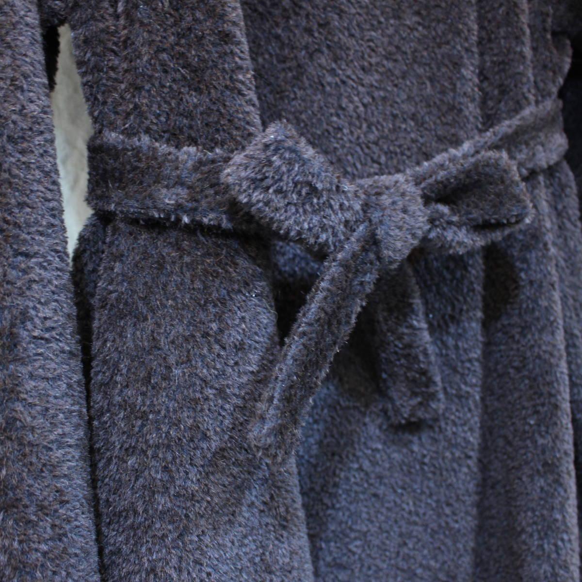 MAX MARA WHITE TAG ALPACA BREND BELTED OVER COAT MADE IN ITALY/マックスマーラ白タグアルパカ混ウールベルテッドオーバーコート_画像4