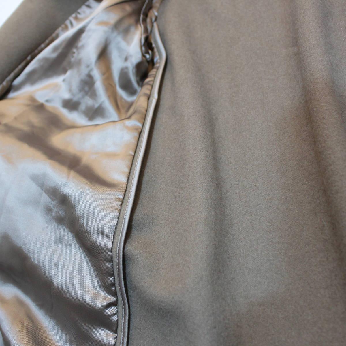 MAX MARA WHITE TAG ANGORA BREND WOOL SHAWL COLLAR OVER COATマックスマーラ白タグアンゴラ混ショールカラーオーバーコート_画像8
