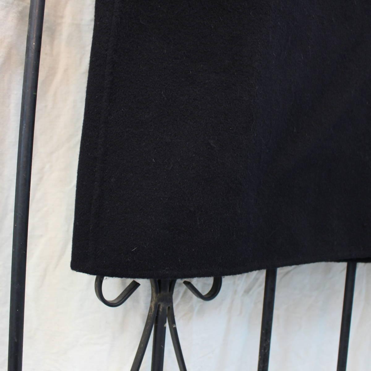 S'MAX MARA ANGORA BREND WOOL BELTED FOODED COAT/エスマックスマーラアンゴラ混ウールベルテッドフーデッドコート_画像7