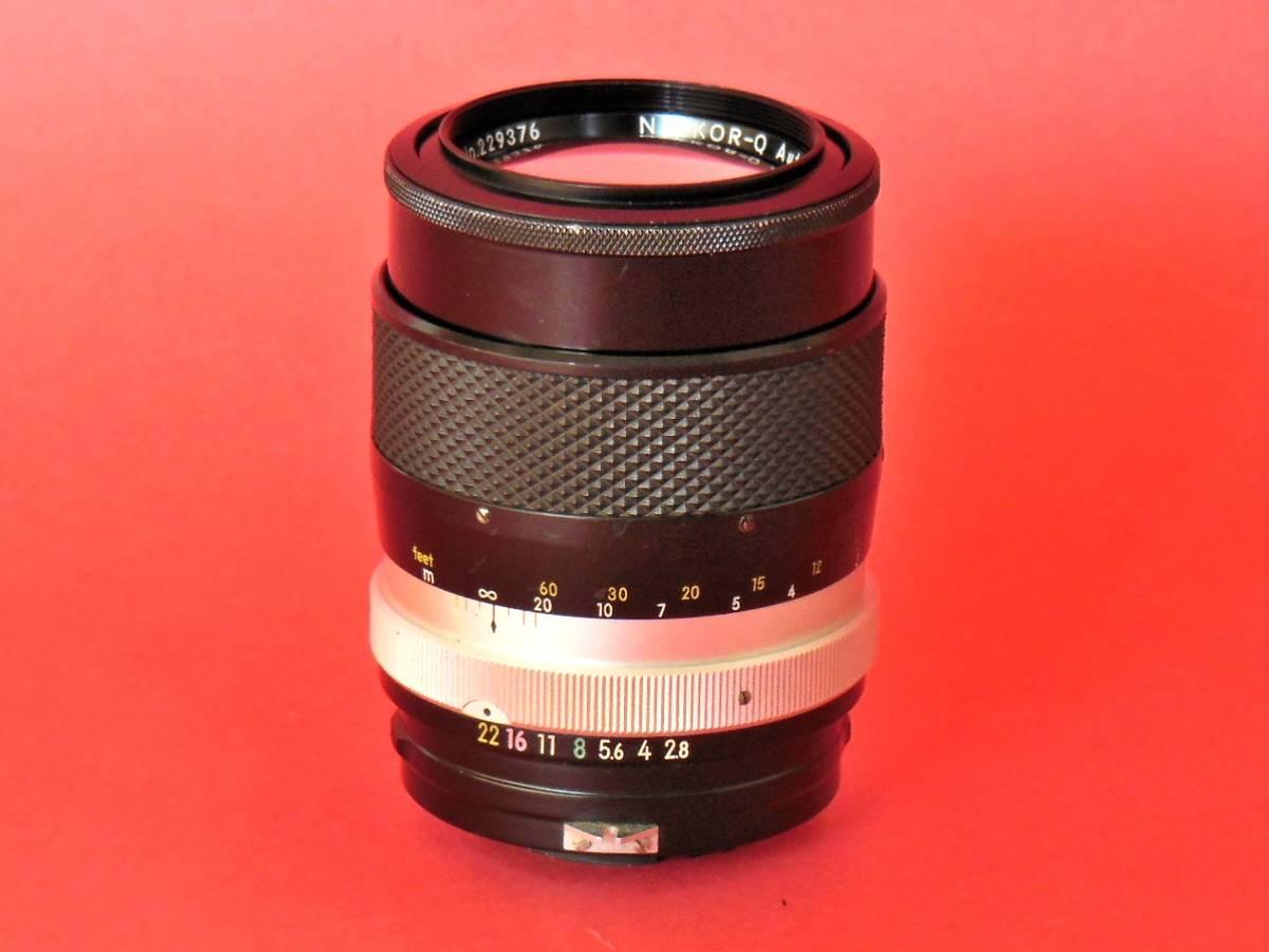 ☆明るい望遠☆ニコン MF単焦点望遠レンズ/NIKKOR-Q Auto135mm/F2.8作動品☆