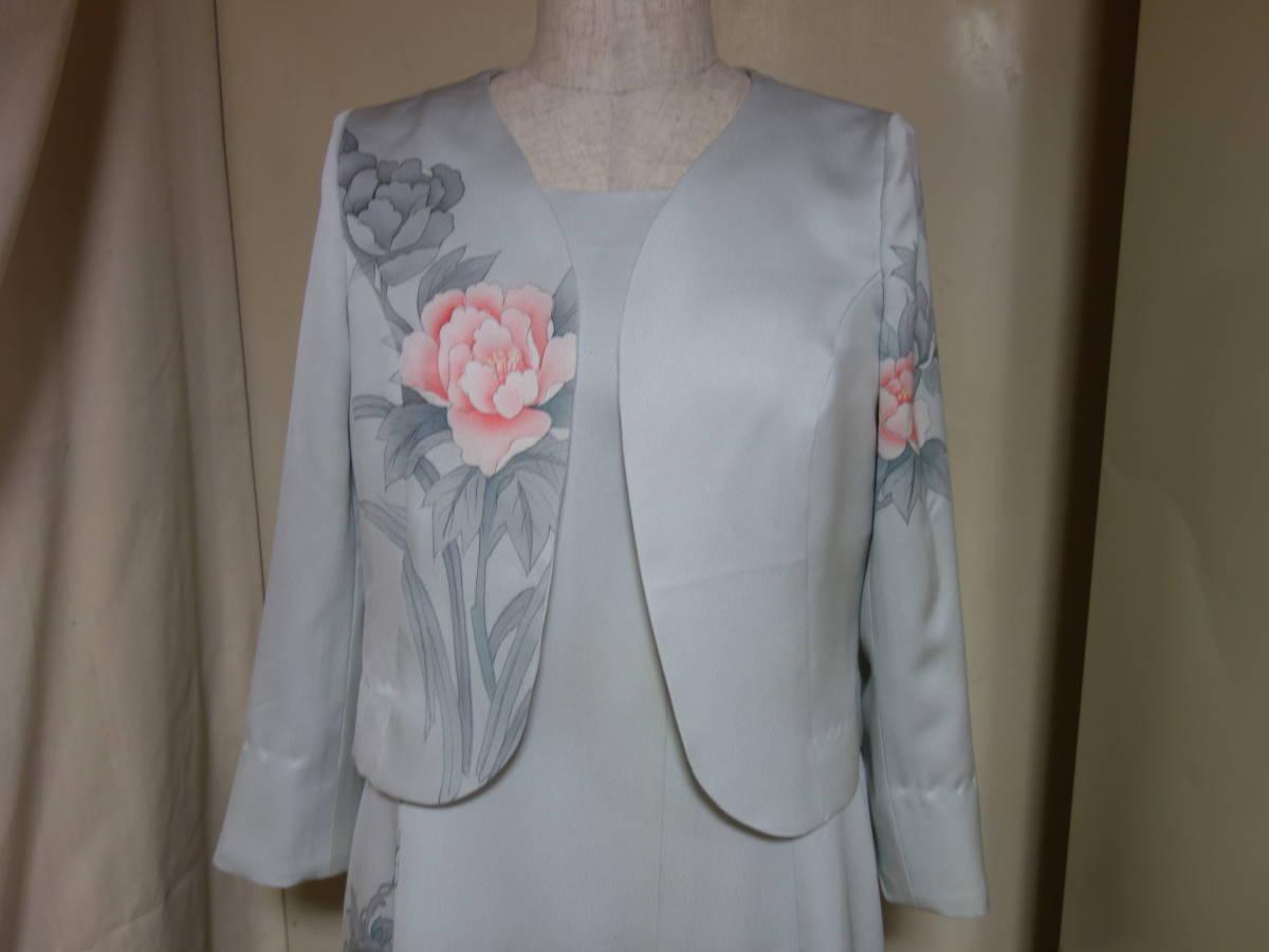 着物リメイク★未仕立ての訪問着からドレス、ジャケット、ブラウス3点セット★11号_画像2