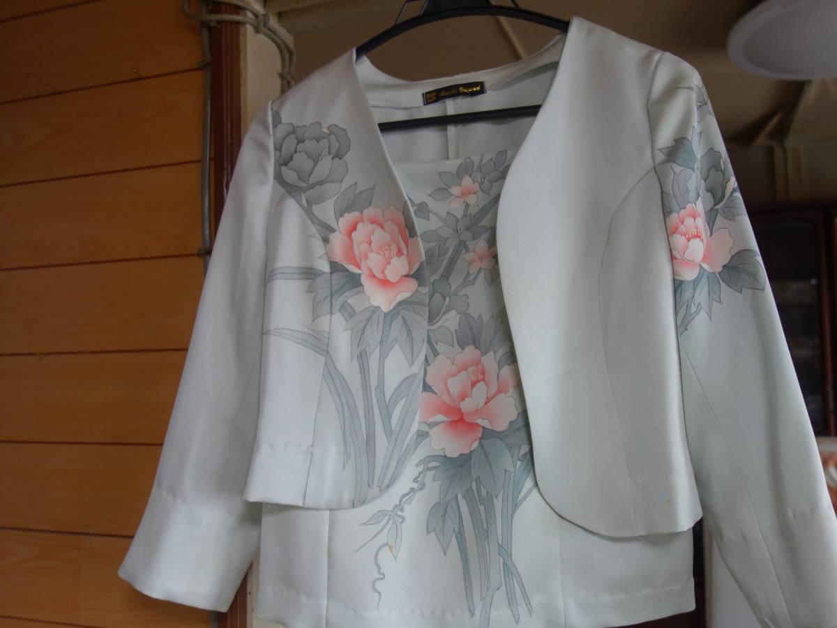 着物リメイク★未仕立ての訪問着からドレス、ジャケット、ブラウス3点セット★11号_画像3