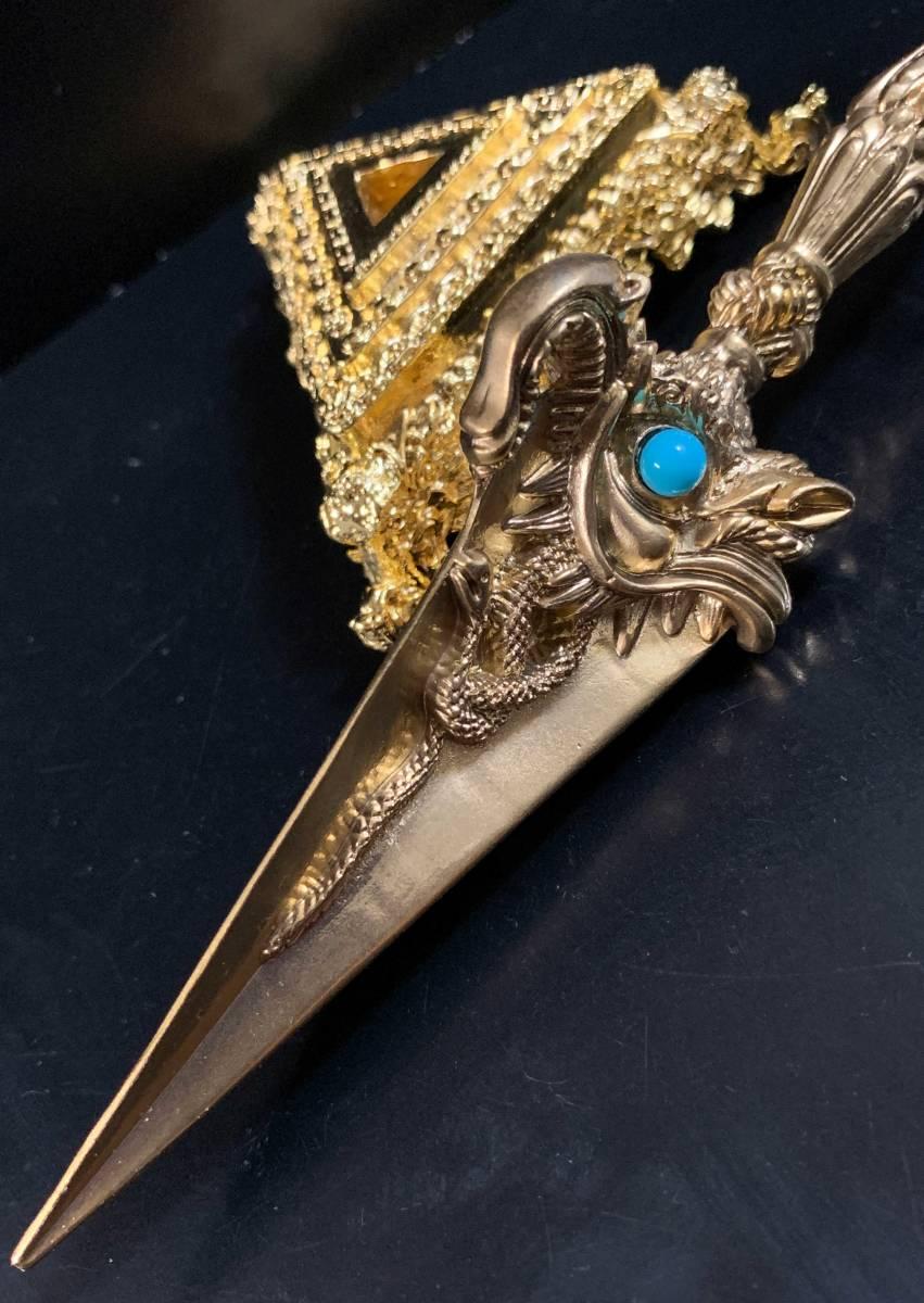 ◆チベット密教法具 3面憤怒尊プルパ(密教宝剣)◆11G