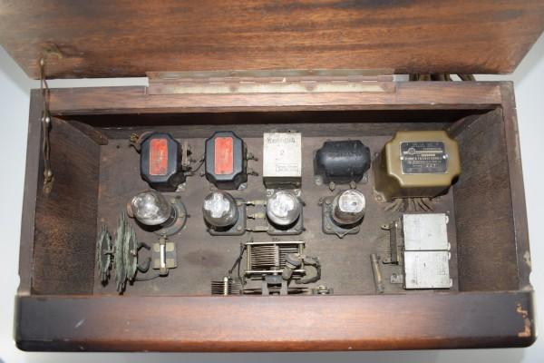 希少 初期型 大型 真空管ラジオ 54.5cm アンティーク 大正 昭和 レトロ OCT-16 Y425_画像6