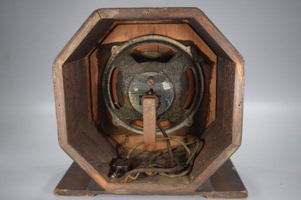 希少 初期型 大型 真空管ラジオ 54.5cm アンティーク 大正 昭和 レトロ OCT-16 Y425_画像9