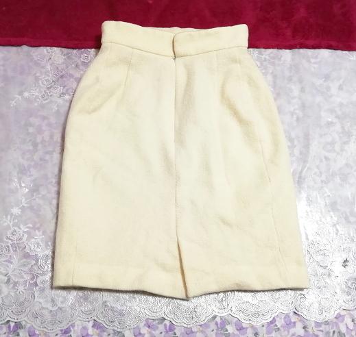 フローラルホワイトツーピース毛のスーツ トップスとスカート Floral white two piece suits tops and skirt_画像4