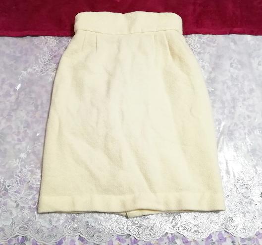 フローラルホワイトツーピース毛のスーツ トップスとスカート Floral white two piece suits tops and skirt_画像3