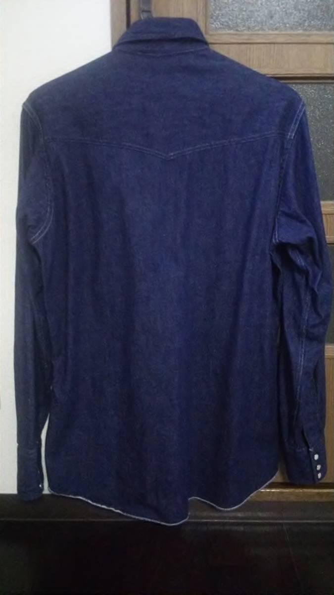 希少 美品 濃紺 50s ビンテージ H BAR C デニム ウエスタン シャツ 長袖 オリジナル オールド USA コットン リーバイス ラングラー_画像2