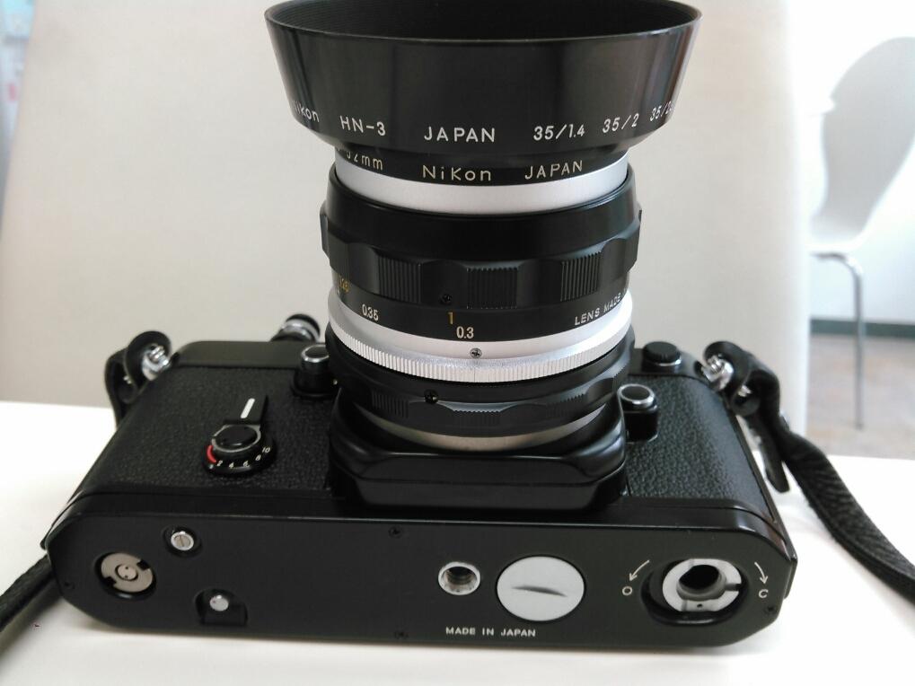 1円売切り/動作未確認/ニコン/F2/レンズ f=35mm 1:2.8/ モータードライブ MD-2 MB-1_画像4