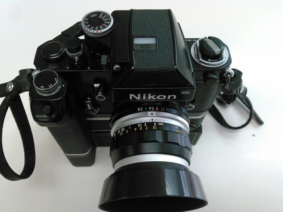 1円売切り/動作未確認/ニコン/F2/レンズ f=35mm 1:2.8/ モータードライブ MD-2 MB-1_画像2