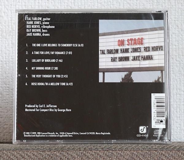 品薄CD/JAZZギター/タル・ファーロウ/ハンク・ジョーンズ/レッド・ノーヴォ/レイ・ブラウン/Tal Farlow/Hank Jones/Red Norvo/Ray Brown_注意:バーコード部分にカットアウトあり
