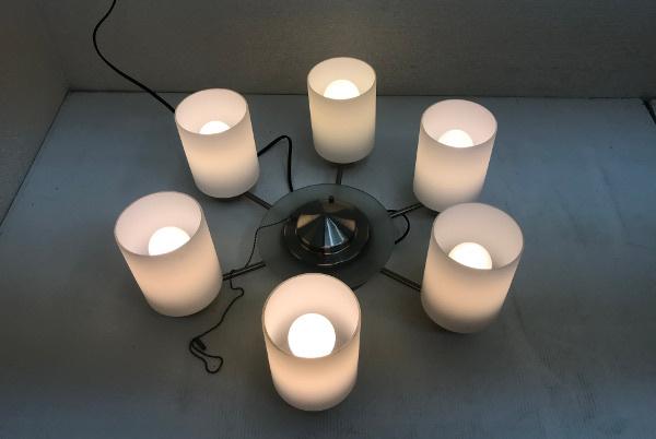 KOIZUMI コイズミ 電球形蛍光灯シャンデリアライト【BAN3501】8~10畳 ホワイト 6灯 照明_画像4