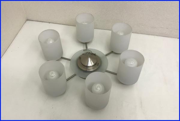 KOIZUMI コイズミ 電球形蛍光灯シャンデリアライト【BAN3501】8~10畳 ホワイト 6灯 照明_画像1