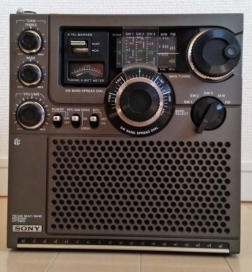 SONY スカイセンサー ICF-5900 MW・FM可動 取扱説明書・カタログ・キャリリングベルトあり_画像5