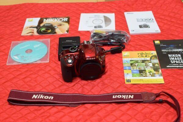 ニコン D3300 ボディ レッド