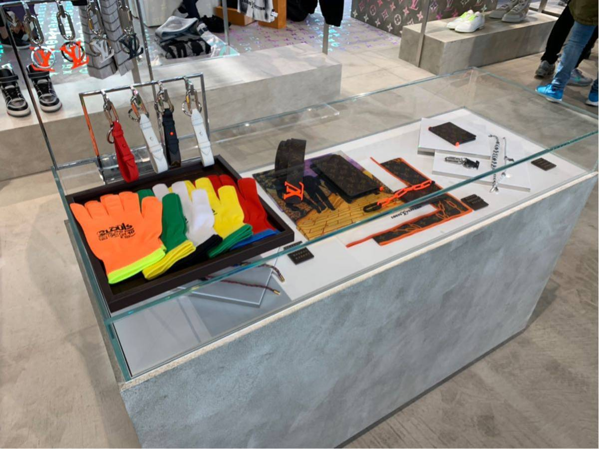 Louis Vuitton 19SS 原宿ポップアップストア限定グローブ ゴンアールジービー 手袋 ルイヴィトン新品未使用 国内正規品_画像3