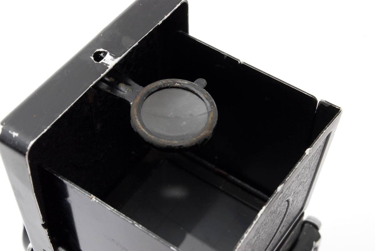 希少な横向きケース!!戦前型!!Rolleiflex 4x4 Tessar 60mm F3.5 ローライフレックス ドイツ製 ローライ Rollei ベビー baby_画像8