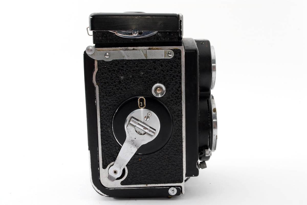 希少な横向きケース!!戦前型!!Rolleiflex 4x4 Tessar 60mm F3.5 ローライフレックス ドイツ製 ローライ Rollei ベビー baby_画像6