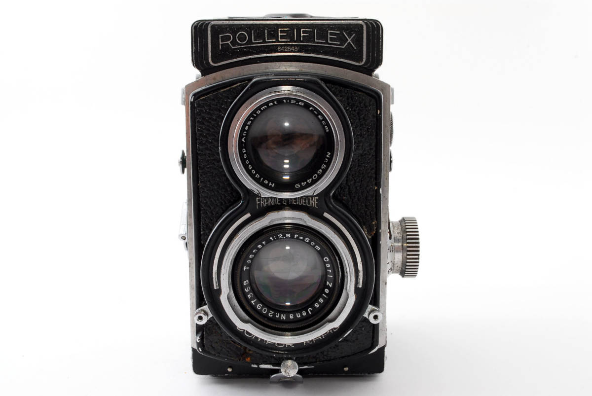 希少な横向きケース!!戦前型!!Rolleiflex 4x4 Tessar 60mm F3.5 ローライフレックス ドイツ製 ローライ Rollei ベビー baby_画像3