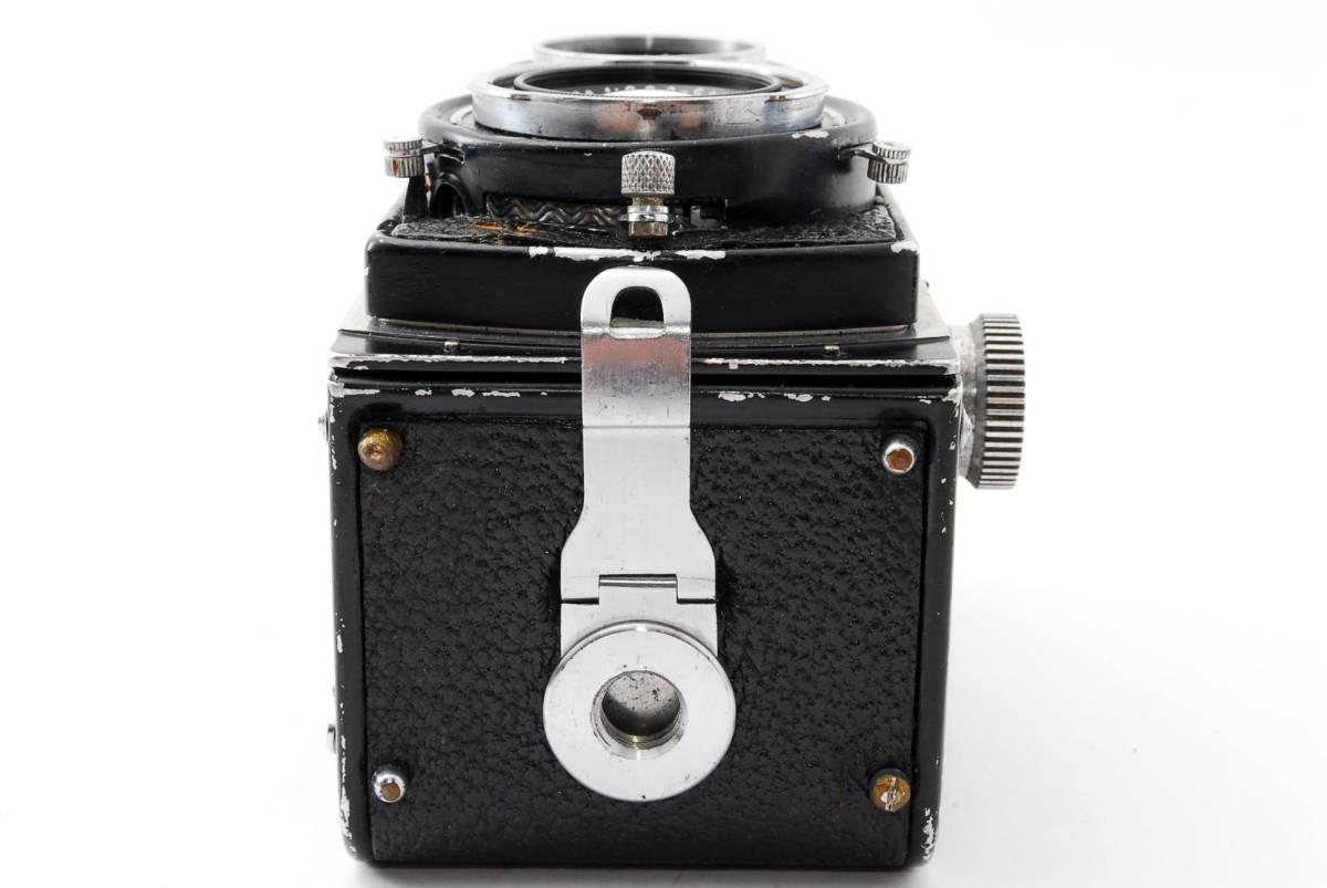 希少な横向きケース!!戦前型!!Rolleiflex 4x4 Tessar 60mm F3.5 ローライフレックス ドイツ製 ローライ Rollei ベビー baby_画像9