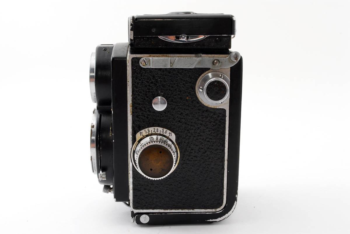 希少な横向きケース!!戦前型!!Rolleiflex 4x4 Tessar 60mm F3.5 ローライフレックス ドイツ製 ローライ Rollei ベビー baby_画像7