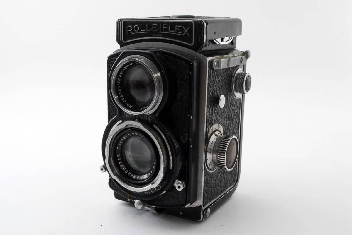 希少な横向きケース!!戦前型!!Rolleiflex 4x4 Tessar 60mm F3.5 ローライフレックス ドイツ製 ローライ Rollei ベビー baby_画像2
