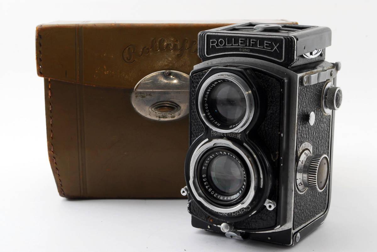 希少な横向きケース!!戦前型!!Rolleiflex 4x4 Tessar 60mm F3.5 ローライフレックス ドイツ製 ローライ Rollei ベビー baby_画像1