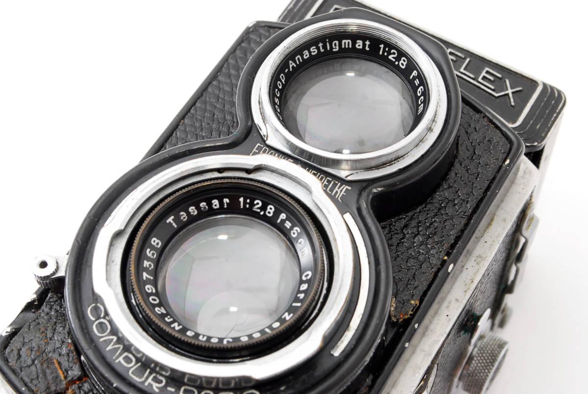 希少な横向きケース!!戦前型!!Rolleiflex 4x4 Tessar 60mm F3.5 ローライフレックス ドイツ製 ローライ Rollei ベビー baby_画像10