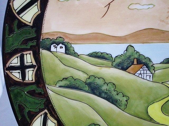 SALE★オールドノリタケ 盛上装飾ウッドランド大飾り皿 27.5㎝(キャビネット) 鉢 カップ 花瓶 壺_画像3