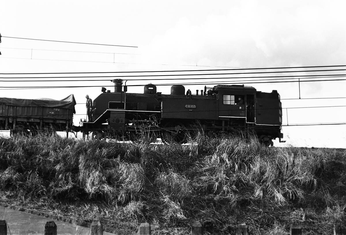 ◆◆【即決写真】  逆C11155(垣)+貨  入換  東海道本線  大垣電車区  1972.2 / 241-13_画像1