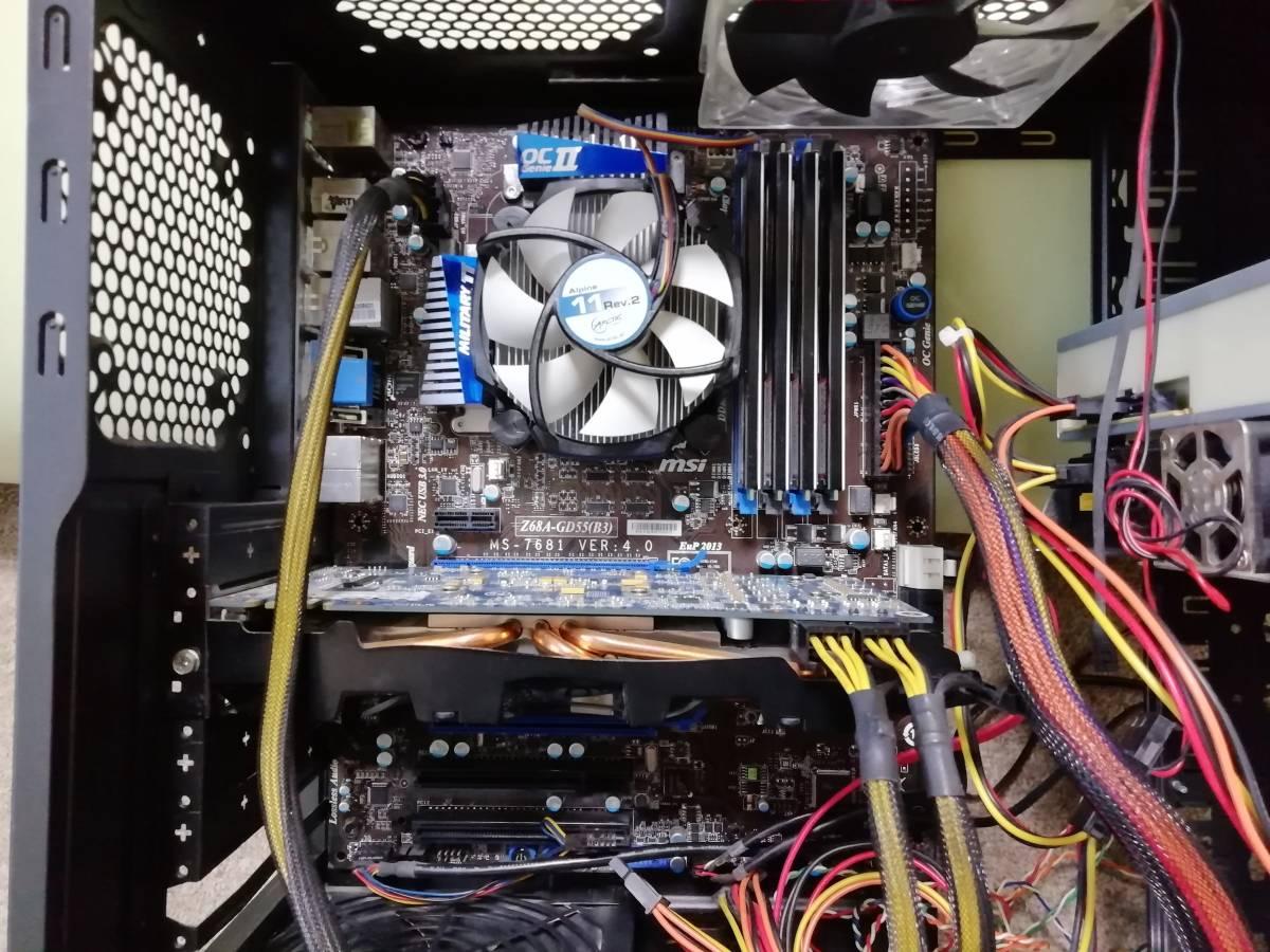おまけモニター付き 自作 Core i7-2600 3.4GHz/16GB/MSI/Z68A-GD55/GTX560TI/2THDD_画像3