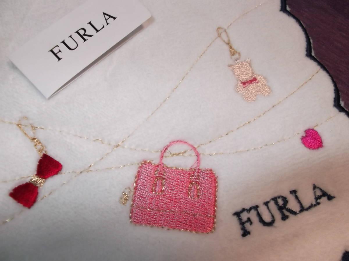 a2630181959c 代購代標第一品牌- 樂淘letao - フルラFURLA タオルハンカチ27x28cm 刺繍入りバッグキーホルダーハート/ ブルーミング中西