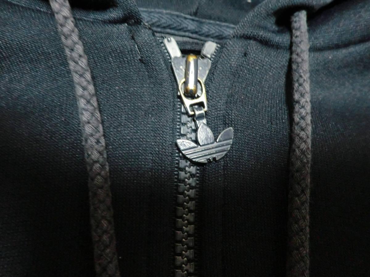 90's adidas アディダス フーディトラックジャケット フード付きジャージ S ネイビーxレッド ビンテージ ヴィンテージ_画像4