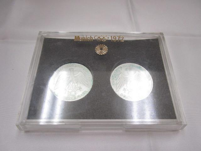 ☆ドイツ 1972年 ミュンヘン オリンピック 記念 2次 10マルク 銀貨 2枚セット 保管品 外国 コイン☆