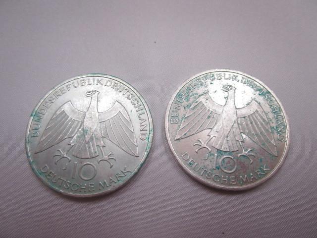 ☆ドイツ 1972年 ミュンヘン オリンピック 記念 2次 10マルク 銀貨 2枚セット 保管品 外国 コイン☆_画像2