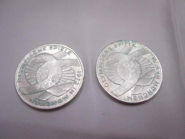 ☆ドイツ 1972年 ミュンヘン オリンピック 記念 2次 10マルク 銀貨 2枚セット 保管品 外国 コイン☆_画像3