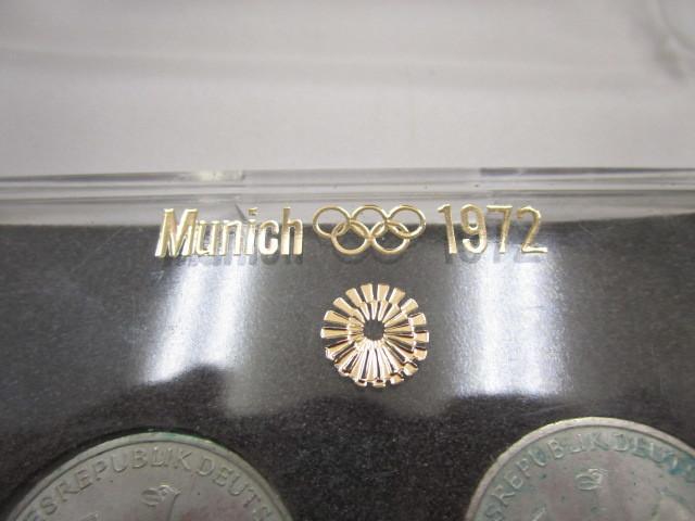 ☆ドイツ 1972年 ミュンヘン オリンピック 記念 2次 10マルク 銀貨 2枚セット 保管品 外国 コイン☆_画像8