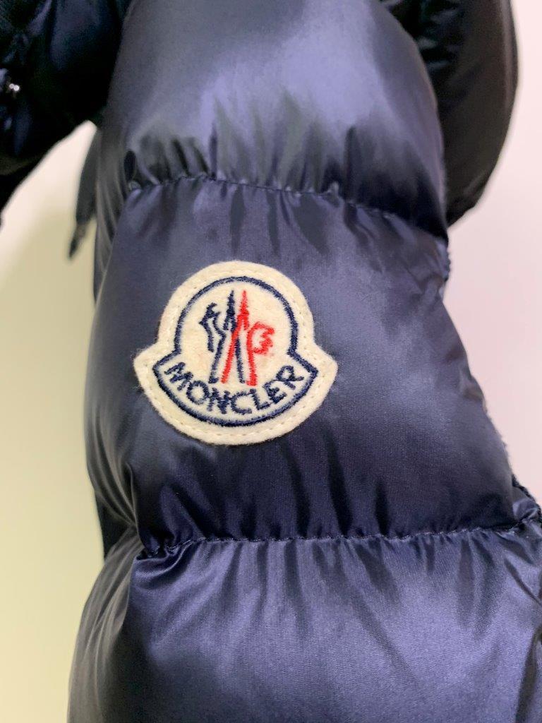 稀少ファスナー16-17AW 国内正規極美品 モンクレール エルミンヌ HERMINE 一番人気 ロング ダウン コート ジャケット ベスト NAVY サイズ0 _画像5