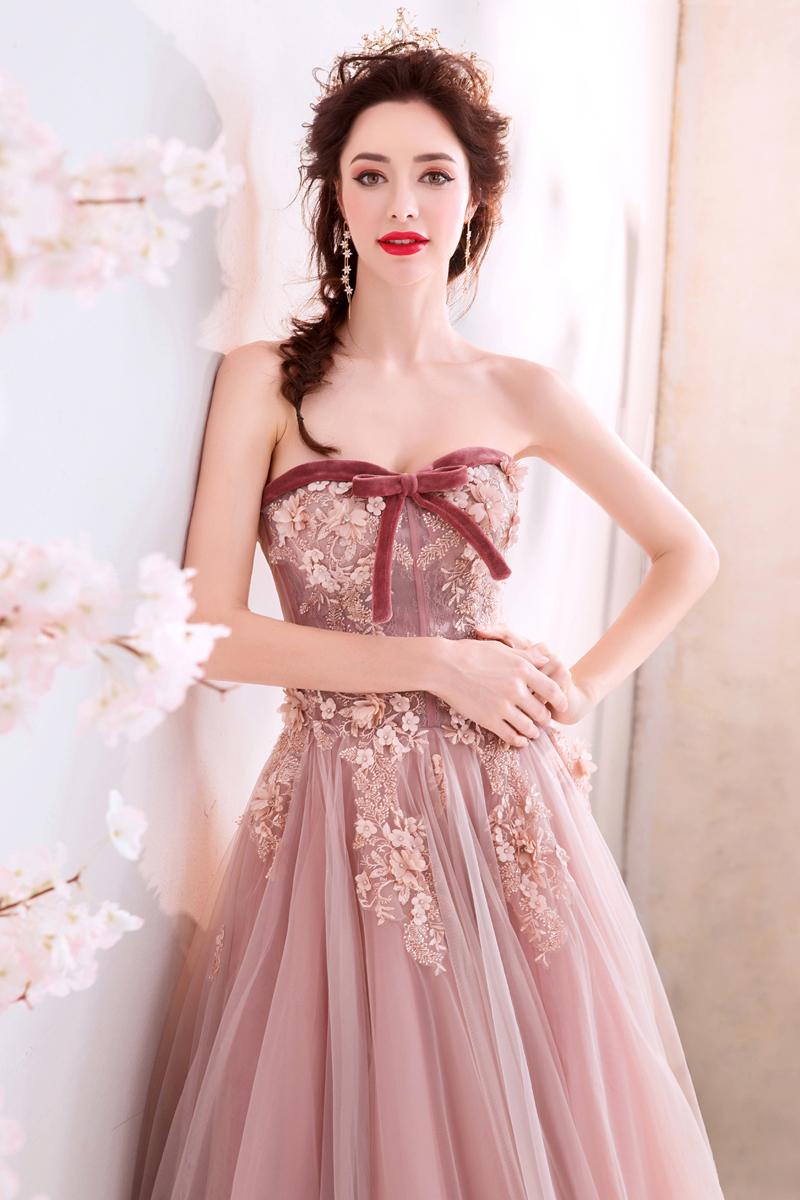 素敵なカラードレス 結婚式 披露宴 お色直し 二次会 パーティー 演奏会 発表会 ステージ衣装 TS715_画像10