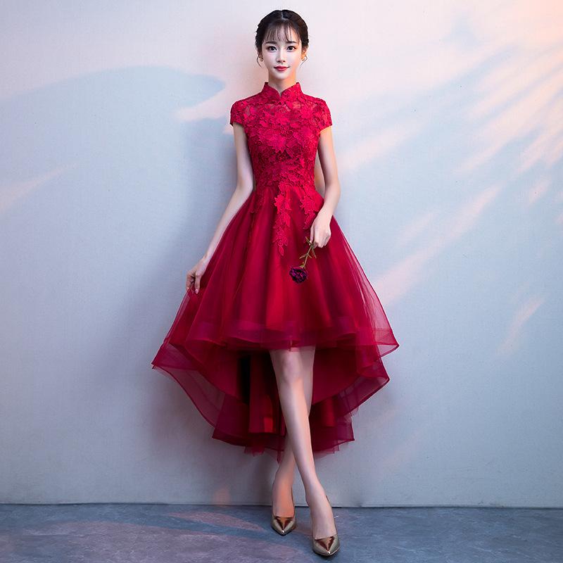 4b1f8db420247 代購代標第一品牌- 樂淘letao - 素敵なカラードレスワインレッド 赤2色あり結婚式二次会演奏会発表会パーティーステージ衣装JY1004