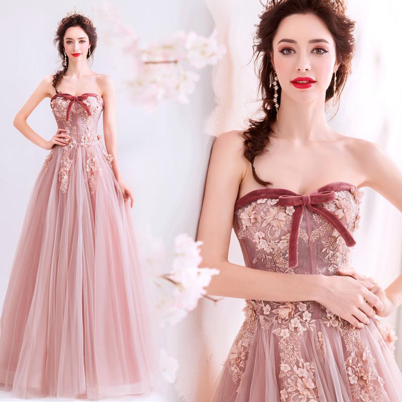 素敵なカラードレス 結婚式 披露宴 お色直し 二次会 パーティー 演奏会 発表会 ステージ衣装 TS715_画像1