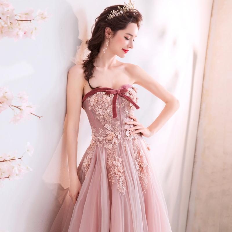 素敵なカラードレス 結婚式 披露宴 お色直し 二次会 パーティー 演奏会 発表会 ステージ衣装 TS715_画像5