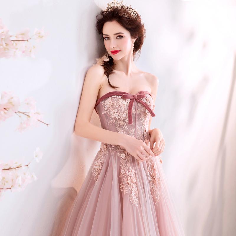 素敵なカラードレス 結婚式 披露宴 お色直し 二次会 パーティー 演奏会 発表会 ステージ衣装 TS715_画像3