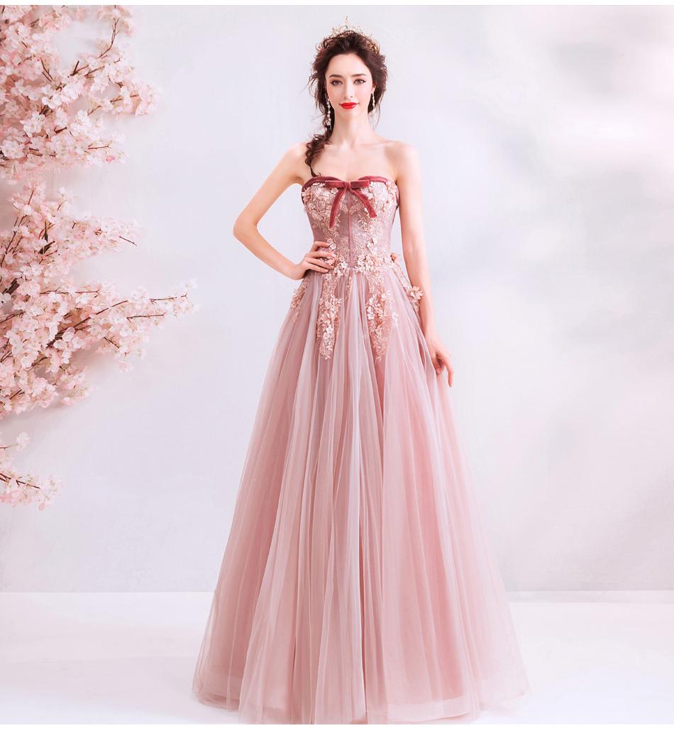 素敵なカラードレス 結婚式 披露宴 お色直し 二次会 パーティー 演奏会 発表会 ステージ衣装 TS715_画像6