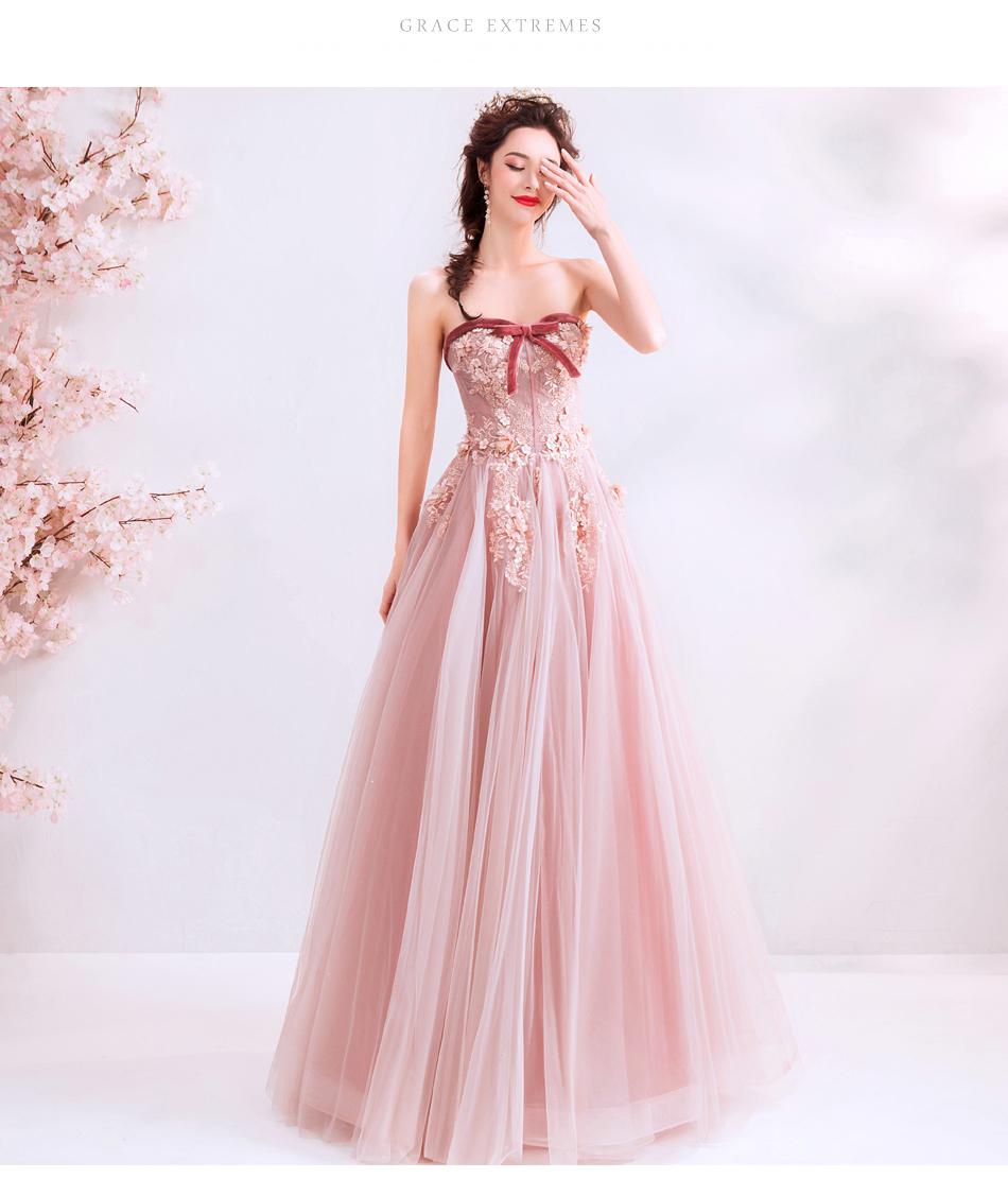 素敵なカラードレス 結婚式 披露宴 お色直し 二次会 パーティー 演奏会 発表会 ステージ衣装 TS715_画像8