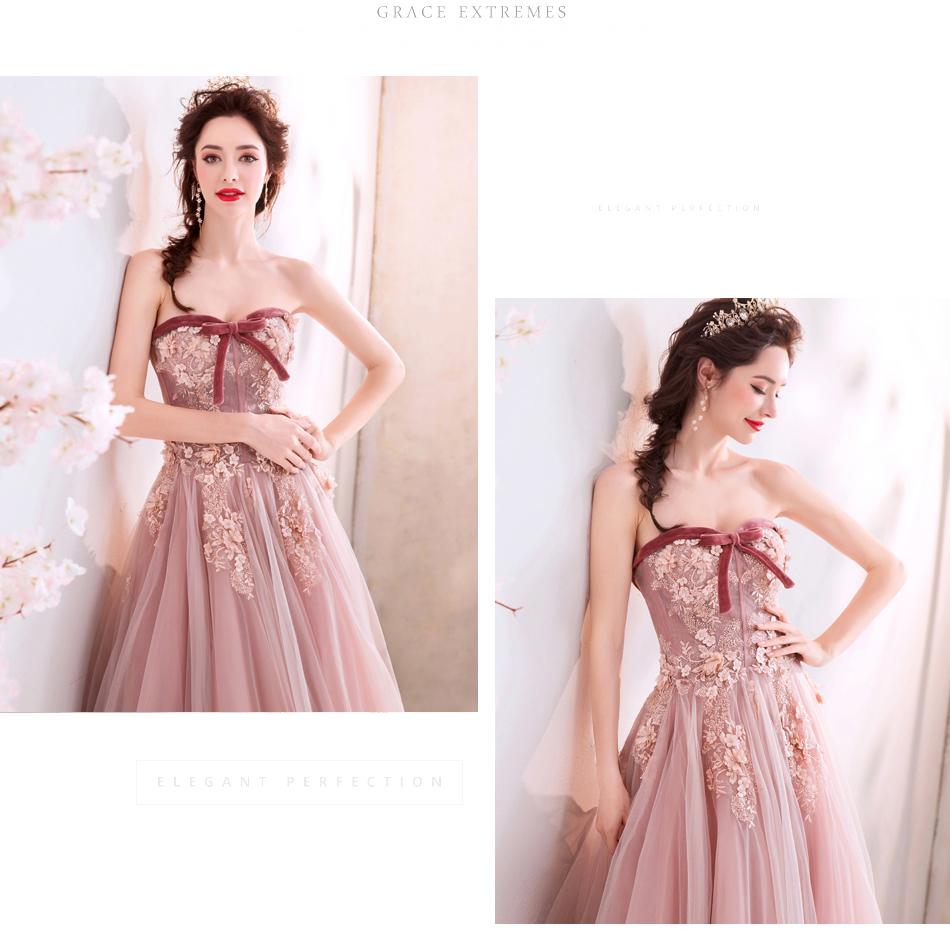 素敵なカラードレス 結婚式 披露宴 お色直し 二次会 パーティー 演奏会 発表会 ステージ衣装 TS715_画像7