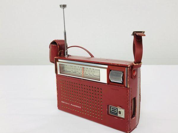 昭和レトロ National Panasonic 8石2バンド トランジスタラジオ R-225 ナショナル パナソニック ジャンク_画像6