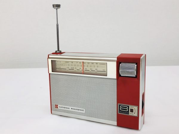昭和レトロ National Panasonic 8石2バンド トランジスタラジオ R-225 ナショナル パナソニック ジャンク_画像2