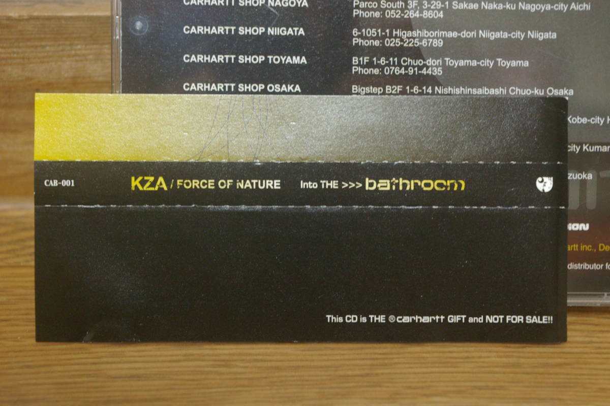 KZA / FORCE OF NATURE Into The bathroom 中古mixCD 2005 carhartt base libyus music loop hidden champion forever young カーハート _画像3