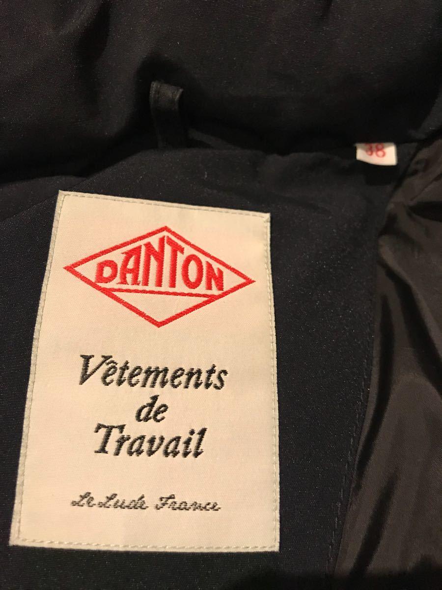 かなりの美品 DANTON 黒 サイズ38 DOWN P/C TUSSAH VEST ダントン_画像4